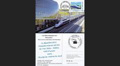 "TGV11-3C : 2011 - Carte Maximum ""1ère Mise en Service TGV Rhin-Rhône - Belfort-Montbéliard"""
