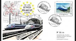 "PE615 : 2011 - FDC ""1ère Mise en Service LGV Rhin-Rhône"" (version anglaise)"