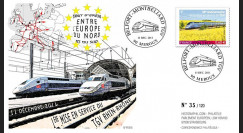 "PE616 : 2011 - FDC ""1ère Mise en Service TGV Rhin-Rhône"" (version française)"