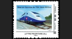 "TGV11-2N : 2011 - 1 valeur Timbre-poste Personnalisé (TPP) ""Mise en Service TGV Rhin-Rhône"""