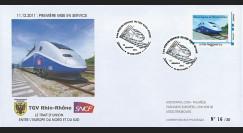 "TGV11-2B : 2011 - FDC ""1ère Mise en Service TGV Rhin-Rhône - TGV 2N2 Euroduplex"""