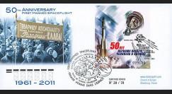 "GAGARIN11-8 : 2011 - FDC RUSSIE ""Youri GAGARINE - 50 ans 1er Homme dans l'Espace"""