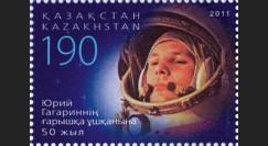 """GAGARIN11-7N : 2011 - 1 valeur KAZAKHSTAN """"GAGARINE - 50 ans 1er Homme dans l'Espace"""""""
