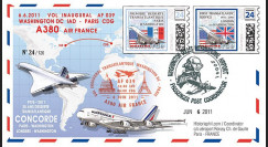 """A380-134 : 2011 - FFC USA """"Airbus A380 Air France - 1er Vol AF039 Washington-Paris"""""""