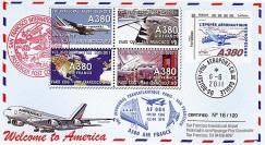 "A380-135 : 2011 - FFC FRANCE ""Airbus A380 Air France - 1er Vol AF084 Paris-San Francisco"""