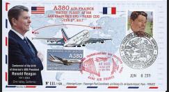 """A380-136 : 2011 - FFC USA """"Airbus A380 Air France - 1er Vol AF083 San Francisco-Paris"""""""