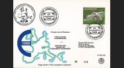 """PE172 : 1958-1988 - FDC Luxembourg 1er Jour du TP """"30 ans Banque Eur. d'Investissements"""""""