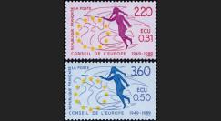 """YT100-101 : 1949-1988 - Conseil de l'Europe """"1ers timbres de service en ECU - 40 ans du CE"""""""