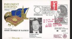 "PE243 : 1991 - FDC Session du PE ""Maastricht : Ratification de l'accord instituant l'ECU"""
