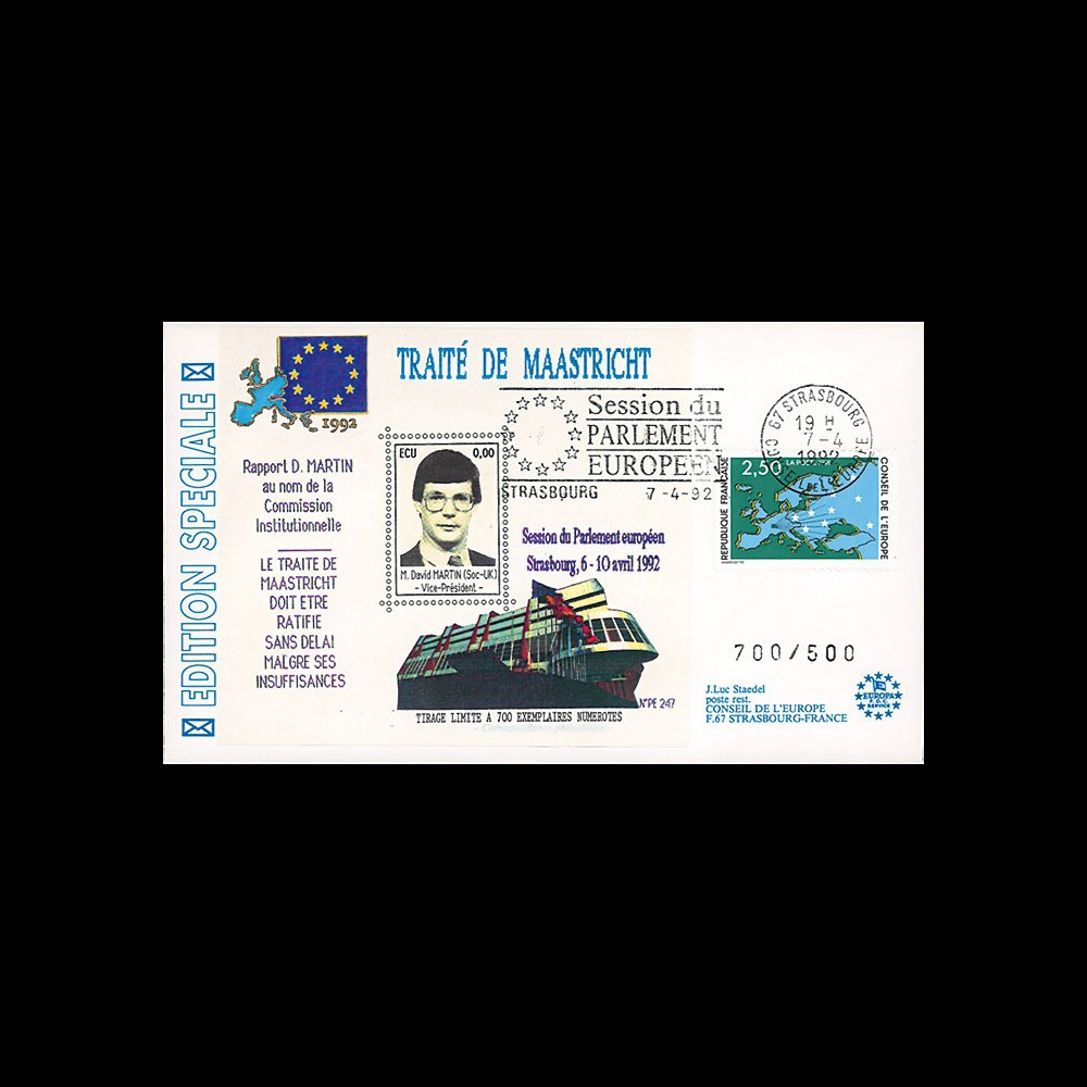 "PE247 : 1992 - FDC Session PE ""M. Martin"