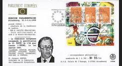 """PE364 : 1994 - FDC Session du PE """"M. Santer recommande 11 pays pour lancer l'euro"""""""