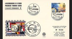 "PE383 : 8.03.1999 - FDC Luxembourg ""1er Jour du 1er timbre en Euro"""