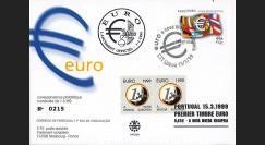 """PE388 : 15.03.1999 - FDC Portugal """"1er Jour du 1er timbre en Euro"""" - Lisbonne"""