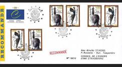 """CE50PJa (PE397a) : 1999 - Env. RECO Conseil de l'Europe """"1er Jour des 1ers timbres en Euro"""""""