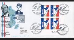 """SP99-CH1A : 1999 - Env. St-Pierre-et-Miquelon 1er Jour 'Visite Chirac et 1er timbre en euro"""""""