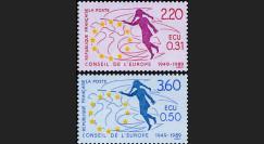 CE40-NF (Y&T 100/101) : 1989 - TP de service 40 ans du Conseil de l'Europe