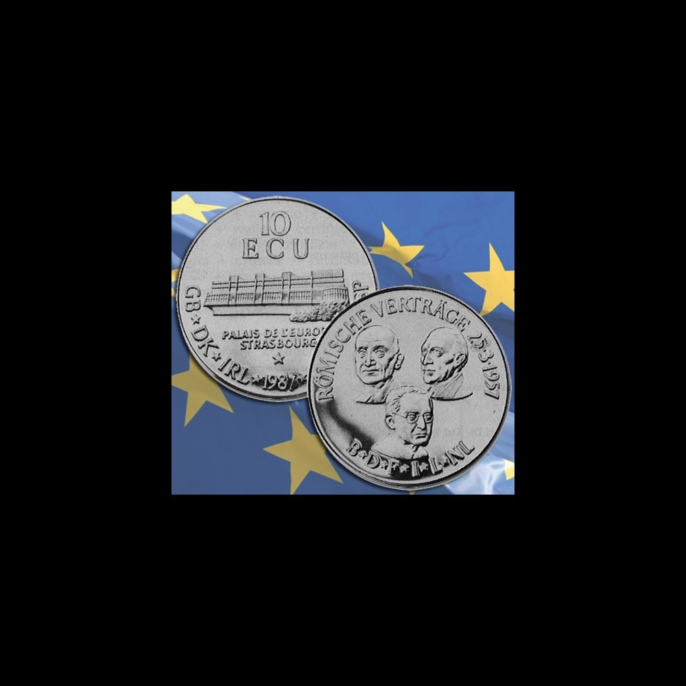 "10ECU-87 : 1987 - 10 ECU Argent 1000/1000 ""Schuman"