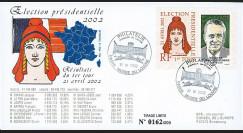 """EP02-1T2 : 2002 - FDC """"France Election Présidentielle 2002 - 1er TOUR"""" Paris Musée Louvre"""