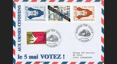 """EP02-2T2 : 2002 - FDC FDC Pro-électoral """"France Election Présidentielle - Le 5 Mai VOTEZ !"""""""