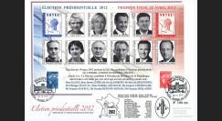 """PRES12-8M : France Maxi-FDC """"Présidentielle 2012"""