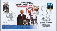 "WT11-1 : 2011 - FDC USA-FRANCE ""10 ans Attentats 11 Septembre - OBAMA / Pompiers"""