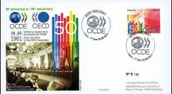 """OCDE50-PJ : 2011 - FDC Premier Jour Paris """"50e anniversaire de l'OCDE"""""""