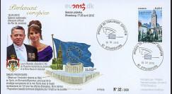 """PE619 : 2012 - FDC Parlement européen """"Visite et Discours du Roi de Jordanie"""