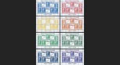 """PRES69-B-COL : 1969 - 8 blocs de vign. """"Présidentielle 1969 / Poher-Pompidou / Concorde"""""""