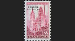CE09-NF (Y&T 16) : 1958 - 1er timbre de service du Conseil de l'Europe
