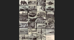 "W2-USWB1/27 : Collection 27 CP Patriotiques US ""BONS D'ARMEMENT FORD 1942/45"""