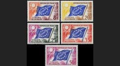 CE10-NF (Y&T 17/21) : 1958-59 - TP de service du Conseil de l'Europe