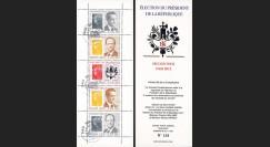 """PRES12-9C : France Carnet porte-TP """"Présidentielle 2012"""