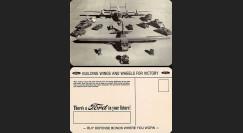 """W2-USWB04 : CP Patriotique USA """"Production militaire - BONS D'ARMEMENT FORD 1942"""""""