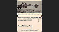 """W2-USWB05 : CP Patriotique USA """"Essai JEEP Willys - BONS D'ARMEMENT FORD 1942"""""""