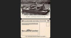 """W2-USWB07 : CP Patriotique USA """"Jeep amphibie SEEP - BONS D'ARMEMENT FORD 1942"""""""