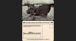 """W2-USWB08 : CP Patriotique USA """"Jeep amphibie SEEP - BONS D'ARMEMENT FORD 1942"""""""