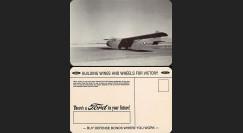 """W2-USWB09 : CP Patriotique USA """"Planeur Waco CG4 Glider - BONS D'ARMEMENT FORD 1942"""""""