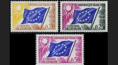 CE14-NF (Y&T 27/29) : 1963 - TP de service du Conseil de l'Europe