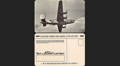 "W2-USWB10 : CP Patriotique USA ""Bombardier B24 Liberator - BONS D'ARMEMENT FORD 1942"""