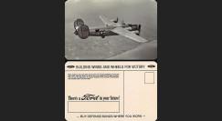 "W2-USWB11 : CP Patriotique US ""Bombardier B24 Liberator - BONS D'ARMEMENT FORD 1942"""