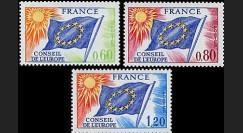 CE26-NF (Y&T 46/48) : 1975 - TP de service du Conseil de l'Europe