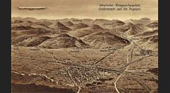 """ZP-0151 : 1915 - CP ALLEMAGNE """"Zeppelin sur le champ de bataille Ouest des Vosges & Sélestat"""""""
