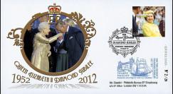 """JUB12-1 : 2011 - FDC GDE-BRETAGNE """"Jubilé de Diamant de la Reine Elizabeth II"""" - Windsor"""