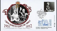 "JUB12-2 : 2011 - FDC GB ""Jubilé de Diamant de la Reine Elizabeth II"" - Buckingham Palace"