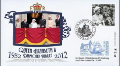 """JUB12-3 : 2011 - FDC GDE-BRETAGNE """"Jubilé de Diamant de la Reine Elizabeth II"""" - Windsor"""