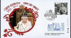 """JUB12-4 : 2011 - FDC GB """"Jubilé de Diamant de la Reine Elizabeth II"""" - Windsor"""