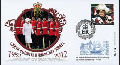 "JUB12-5 : 2011 - FDC GB ""Jubilé de Diamant de la Reine Elizabeth II"" - Buckingham Palace"