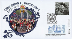 "JUB12-6 : 2011 - FDC GDE-BRETAGNE ""Jubilé de Diamant de la Reine Elizabeth II"" - Londres"