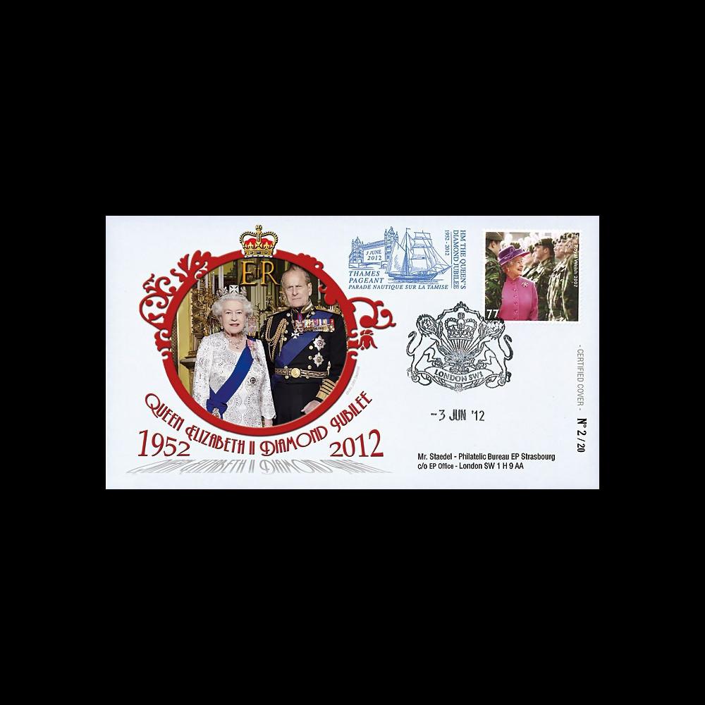 "JUB12-7 : 2011 - FDC GDE-BRETAGNE ""Jubilé de Diamant de la Reine Elizabeth II"" - Londres"