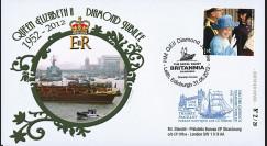 "JUB12-8 : 2011 - FDC GB ""Jubilé de Diamant de la Reine Elizabeth II"" - Leith"